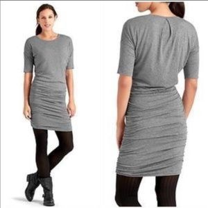 Athleta Solstice Cowl Long Sleeve ruched dress